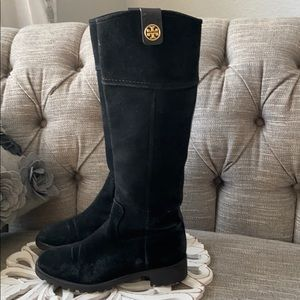Tory Burch Suede Leather Tall Boots Women's 8